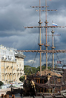 "Reszaurant-Schiff ""Flying Dutchman"", St. Petersburg, Russland"