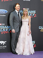 """19 April 2017 - Hollywood, California - Chris Pratt, Anna Faris. Premiere Of Disney And Marvel's """"Guardians Of The Galaxy Vol. 2"""" held at Dolby Theatre. Photo Credit: PMA/AdMedia"""