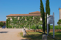 The winery and entrance to Chateau Troplong Mondot Saint Emilion Bordeaux Gironde Aquitaine France