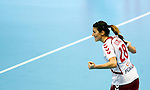 Poland's Alina Wojtas (R) celebrate during handball Women's World Championship eight final match between Poland and Romania in Novi Sad, Serbia on Sunday, December 15, 2013. (credit image & photo: Pedja Milosavljevic / STARSPORT / +318 64 1260 959 / thepedja@gmail.com)
