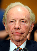 Former United States Senator Joe Lieberman (Independent Democrat of Connecticut) appears at the US Senate Committee on Health, Education, Labor and Pensions hearing  considering the confirmation of Betsy DeVos of Grand Rapids, Michigan to be US Secretary of Education on Capitol Hill in Washington, DC on Tuesday, January 17, 2017. Photo Credit: Ron Sachs/CNP/AdMedia