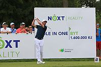 Paul Peterson (USA) on the 7th tee during Round 1 of the D+D Real Czech Masters at the Albatross Golf Resort, Prague, Czech Rep. 31/08/2017<br /> Picture: Golffile | Thos Caffrey<br /> <br /> <br /> All photo usage must carry mandatory copyright credit     (&copy; Golffile | Thos Caffrey)