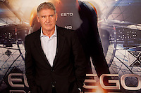 US actor Harrison Ford poses during a photocall for the film Ender's Game in Madrid on October 3, 2013. (ALTERPHOTOS/Victor Blanco)