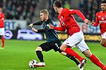 04.11.2018, Opel-Arena, Mainz, GER, 1 FBL, 1. FSV Mainz 05 vs SV Werder Bremen, <br /> <br /> DFL REGULATIONS PROHIBIT ANY USE OF PHOTOGRAPHS AS IMAGE SEQUENCES AND/OR QUASI-VIDEO.<br /> <br /> im Bild: Florian Kainz (SV Werder Bremen #7) gegen Stefan Bell (#16, FSV Mainz)<br /> <br /> Foto © nordphoto / Fabisch