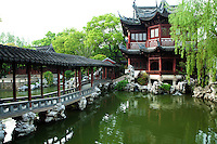 """Yu Garden or Yuyuen """"Happy Garden""""  is an extensive Chinese garden located beside the City God Temple in Shanghai. Yu Garden was first conceived in 1559 during the Ming Dynasty by Pan Yunduan as a comfort for his father minister Pan En, in his old age. The garden was the largest of its era but eventually its expense helped ruin the Pan family. The garden was opened to the public in 1961 and then declared a national monument in 1982."""