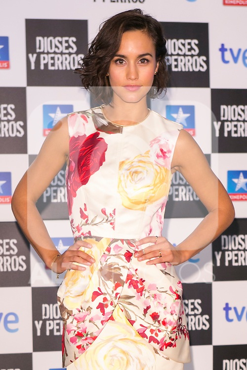 "Spanish Actress Megan Montaner attends the ""DIOSES Y PERROS "" Movie presentation at Kinepolis Cinema in Madrid, Spain. October 6, 2014. (ALTERPHOTOS/Carlos Dafonte)"