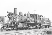 3/4 fireman's-side view of D&amp;RGW #375 in Durango yard.<br /> D&amp;RGW  Durango, CO  Taken by Hanft, Robert M. - 8/22/1948