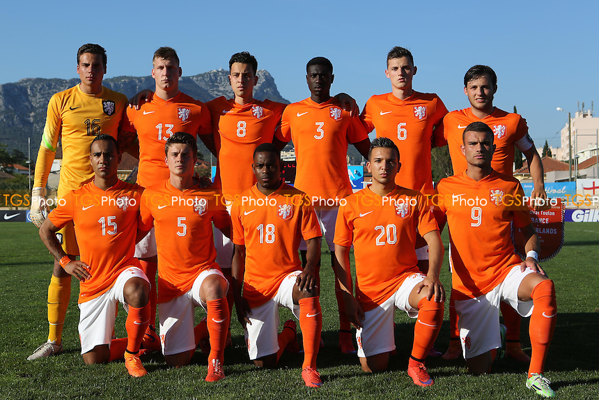 Holland U20's team photo - France Under-20 vs Netherlands Under-20 - 2015 Toulon Tournament Football at Stade Leo Lagrange, Toulon, France - 04/06/15 - MANDATORY CREDIT: Paul Dennis/TGSPHOTO - Self billing applies where appropriate - contact@tgsphoto.co.uk - NO UNPAID USE