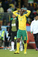 Siboniso GAXA shows his disappointment  at the draw during the opening match ( match 1) of the FFA World Cup 2010 South Africa held at Soccer City in SOWETO, Johannesburg, South Africa on the 11th June 2010.