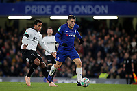 Mateo Kovacic of Chelsea in action as Derby's Tom Huddlestone looks on during Chelsea vs Derby County, Caraboa Cup Football at Stamford Bridge on 31st October 2018