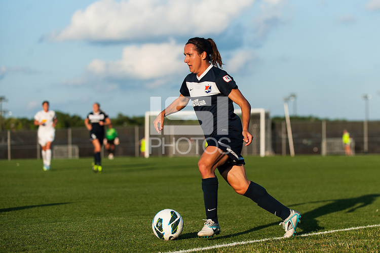 Sky Blue FC forward Lisa De Vanna (11). The Western New York Flash defeated Sky Blue FC 3-0 during a National Women's Soccer League (NWSL) match at Yurcak Field in Piscataway, NJ, on June 8, 2013.