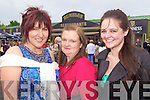 Galway girls Angela Cogne, Mary Collins and Maeve Hughs enjoying the opening day of the Listowel races last Sunday afternoon.