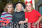 Shauna O'Connor, Emma Houlihan and Sinead O'Connor at the Halloween Party in Beaufort Community Centre on Sunday.