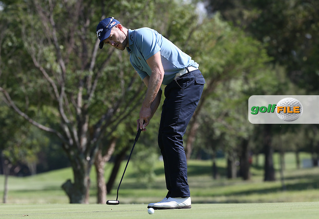 Stuart Manley (WAL) putting on the 6th during Round One of the 2016 Tshwane Open, played at the Pretoria Country Club, Waterkloof, Pretoria, South Africa.  11/02/2016. Picture: Golffile | David Lloyd<br /> <br /> All photos usage must carry mandatory copyright credit (&copy; Golffile | David Lloyd)