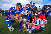 Ryan Shelford and family after the 2018 Heartland Championship Lochore Cup rugby final between Horowhenua Kapiti and Wairarapa Bush at Levin Domain in Levin, New Zealand on Sunday, 28 October 2018. Photo: Dave Lintott / lintottphoto.co.nz