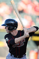 Nashville Sounds second baseman Joey Wendle (13) during a baseball game, Saturday May 02, 2015 in Round Rock, Tex. Express defeated Sounds 5-4. (Mo Khursheed/TFV Media via AP images)