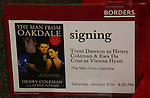 Poster of Trent Dawson & Ewa da Cruz  - ATWT sign for fans The Man from Oakdale - a Novel by Henry Coleman with Alina Adams on January 31, 2009 at Borders in Westbury, New York.