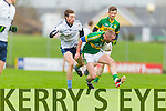 Gary Syers Kerry in action against Cillian Cromwell IT Tralee in the McGrath cup at Austin Stack Park on Sunday.