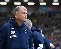 AFC Wimbledon Manager Glyn Hodges during Portsmouth vs AFC Wimbledon, Sky Bet EFL League 1 Football at Fratton Park on 11th January 2020