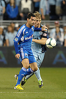 Andrea Romero (15) forward Montreal Impact in action.Sporting Kansas City defeated Montreal Impact 2-0 at Sporting Park, Kansas City, Kansas.