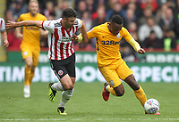 Preston North End's Darnell Fisher  in action with Sheffield United's Enda Stevens<br /> <br /> Photographer Mick Walker/CameraSport<br /> <br /> The EFL Sky Bet Championship - Sheffield United v Preston North End - Saturday 22 September 2018 - Bramall Lane - Sheffield<br /> <br /> World Copyright © 2018 CameraSport. All rights reserved. 43 Linden Ave. Countesthorpe. Leicester. England. LE8 5PG - Tel: +44 (0) 116 277 4147 - admin@camerasport.com - www.camerasport.com