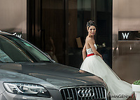 Wedding promotion photo for W Hotel Hong Kong..Model: Phuong Rouzaire.Makeup Artist: Rhine Wong.Hair Stylist: Tim Wong.Photographer: Imagennix | Scott Brooks.Location: Entrance
