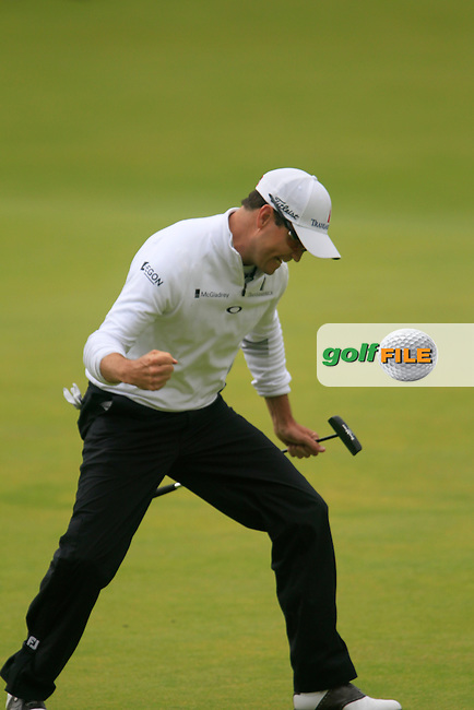 \Zach JOHNSON (USA)\ on the 18th during the final round on Monday of the 144th Open Championship, St Andrews Old Course, St Andrews, Fife, Scotland. 20/07/2015.<br /> Picture: Golffile | Fran Caffrey<br /> <br /> <br /> All photo usage must carry mandatory copyright credit (&copy; Golffile | Fran Caffrey)
