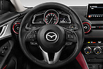 Car pictures of steering wheel view of a 2017 Mazda CX-3 Grand-Touring 5 Door SUV Steering Wheel
