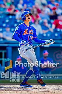 7 March 2019: New York Mets top prospect infielder Andres Gimenez at bat during a Spring Training Game against the Washington Nationals at the Ballpark of the Palm Beaches in West Palm Beach, Florida. The Nationals defeated the visiting Mets 6-4 in Grapefruit League, pre-season play. Mandatory Credit: Ed Wolfstein Photo *** RAW (NEF) Image File Available ***