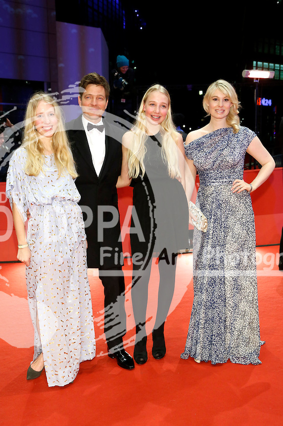 Thomas Vinterberg with his daughters Nana and Ida and actress Helene Reingaard Neumann attending the 'Kollektivet / The Commune / Die Kommune' premiere at the 66th Berlin International Film Festival / Berlinale 2016 at  Berlinale Palast on February 17, 2016  in Berlin, Germany.