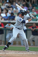 Lake County Captains outfielder Jordan Smith #39 bats during a game against the Dayton Dragons at Fifth Third Field on June 25, 2012 in Dayton, Ohio. Lake County defeated Dayton 8-3. (Brace Hemmelgarn/Four Seam Images)