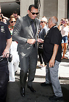 NEW YORK, NY - AUGUST 2: Alex Rodriguez seen leaving NBC's Today Show in New York City on August 2, 2018. <br /> CAP/MPI/RW<br /> &copy;RW/MPI/Capital Pictures