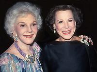 #MaryMartin KittyCarlisleHart 1984<br /> Photo By Adam Scull/PHOTOlink.net