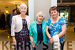 At the Fine Gael celebration in honour of Jimmy Deenihan in The Rose Hotel on Friday were Sheila Cronin, Mary Brosnan and Joan Roche