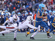 Annapolis, MD - December 28, 2017: Navy Midshipmen running back Malcolm Perry (10) breaks a tackle during the game between Virginia and Navy at  Navy-Marine Corps Memorial Stadium in Annapolis, MD.   (Photo by Elliott Brown/Media Images International)