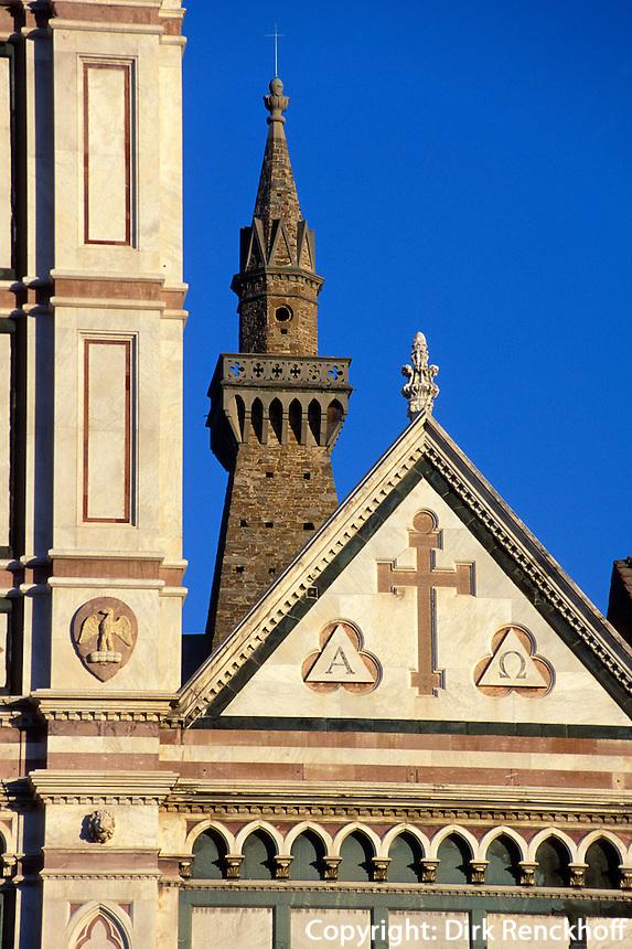 Detail der Kirche Santa Croce, Florenz, Toskana, Italien, Unesco-Weltkulturerbe