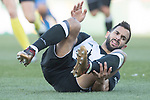 Martin Montoya Torralbo of Valencia CF in action against Mauro Wilney Arambarri Rosa of Getafe CF during the La Liga 2017-18 match between Getafe CF and Valencia CF at Coliseum Alfonso Perez on December 3 2017 in Getafe, Spain. Photo by Diego Gonzalez / Power Sport Images