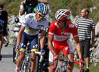 Alberto Contador and Joaquin Purito Rodriguez (r) during the stage of La Vuelta 2012 between La Robla and Lagos de Covadonga.September 2,2012. (ALTERPHOTOS/Paola Otero) /NortePhoto.com<br /> <br /> **CREDITO*OBLIGATORIO** <br /> *No*Venta*A*Terceros*<br /> *No*Sale*So*third*<br /> *** No*Se*Permite*Hacer*Archivo**<br /> *No*Sale*So*third*