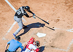 28 August 2016: Colorado Rockies third baseman Nolan Arenado in action against the Washington Nationals at Nationals Park in Washington, DC. The Rockies defeated the Nationals 5-3 to take the rubber match of their 3-game series. Mandatory Credit: Ed Wolfstein Photo *** RAW (NEF) Image File Available ***