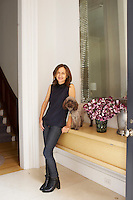 Francesca Connolly, owner of Remodelista, at home in New York with her poodle, Tim