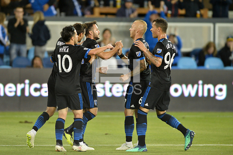 San Jose, CA - Wednesday August 29, 2018: Vako during a Major League Soccer (MLS) match between the San Jose Earthquakes and FC Dallas at Avaya Stadium.