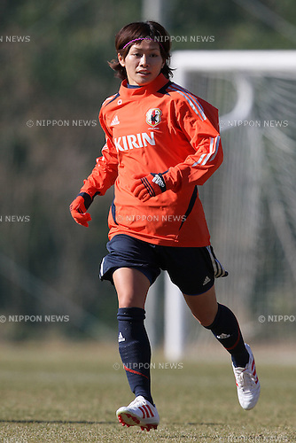 Nahomi Kawasumi (JPN), .FEBRUARY 11, 2012 - Football / Soccer : Nadeshiko Japan team training Wakayama camp at Kamitonda Sports Center in Wakayama, Japan. (Photo by Akihiro Sugimoto/AFLO SPORT) [1080]
