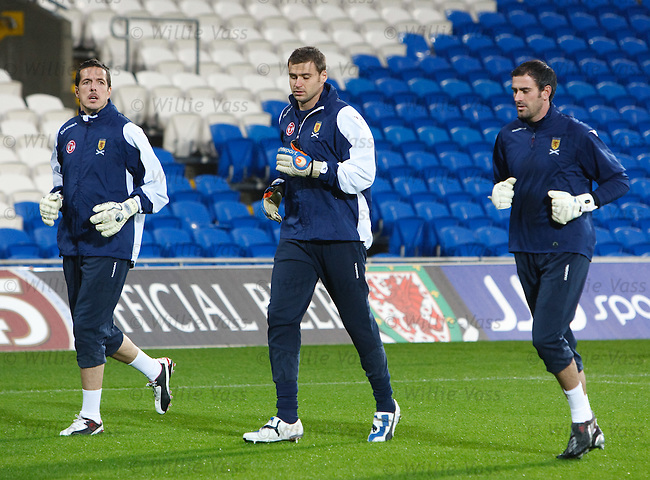 Jamie Langfield, David Marshall and Paul Gallacher
