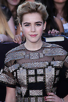"WESTWOOD, LOS ANGELES, CA, USA - MARCH 18: Kiernan Shipka at the World Premiere Of Summit Entertainment's ""Divergent"" held at the Regency Bruin Theatre on March 18, 2014 in Westwood, Los Angeles, California, United States. (Photo by David Acosta/Celebrity Monitor)"