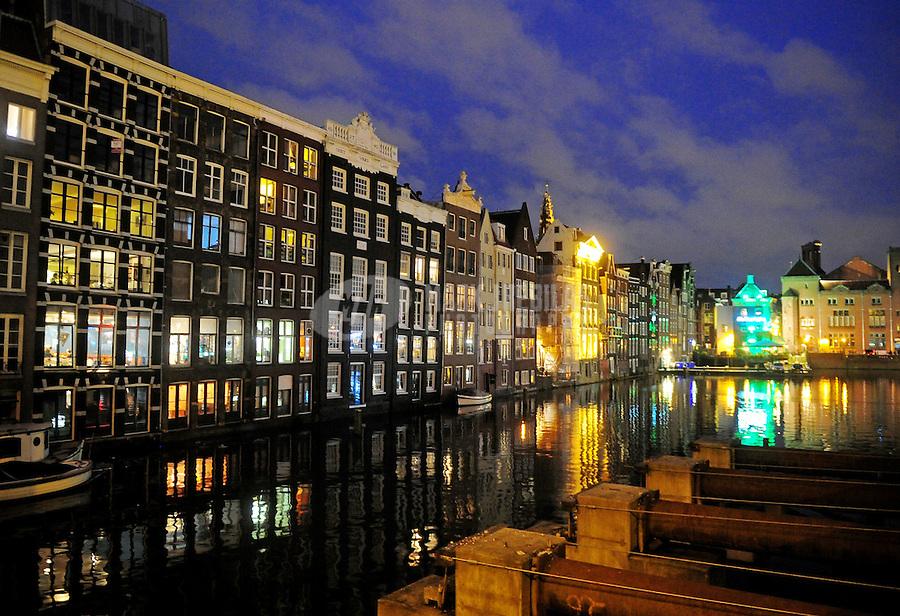 Amsterdam Holland Netherlands apartment water reflection europe city lights urban condo