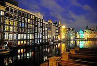 Amsterdam Holland Netherlands apartment water reflection europe city lights urban condo