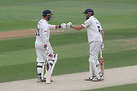 Tom Westley and Nick Browne enjoy a useful partnership for Essex during Essex CCC vs Yorkshire CCC, Specsavers County Championship Division 1 Cricket at The Cloudfm County Ground on 9th July 2019