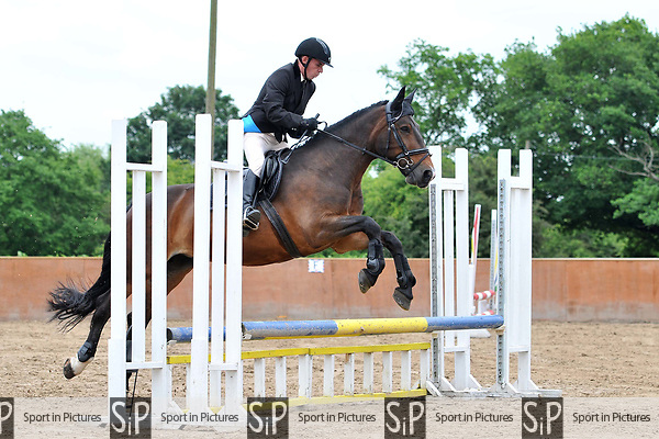 Class 3. Novice. Unaffiliated showjumping. Eastminster riding school. Essex. 29/05/2017. MANDATORY Credit Ellen Szalai/Sportinpictures - NO UNAUTHORISED USE - 07837 394578