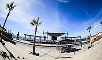 Plaza or malecon of the tourist destination called Puerto Peñasco, Sonora, Mexico. plameras and blue sky. sunny day<br /> <br /> Plaza o malecon del  destino turistico llamado Puerto Peñasco, Sonora, Mexico. plameras y cielo azul. dia soleado<br /> (Photo: Luis Gutierrez /NortePhoto.com)