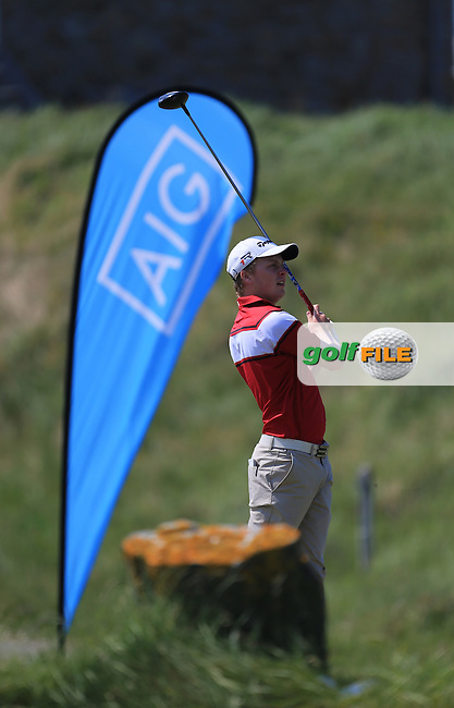 Simon Ward (Co. Louth) on the 10th tee during the 2nd round of the Irish Amateur Close Championship 2013 at the Connemara Golf Club Sat  9/6/13<br /> Picture:  Thos Caffrey / www.golffile.ie